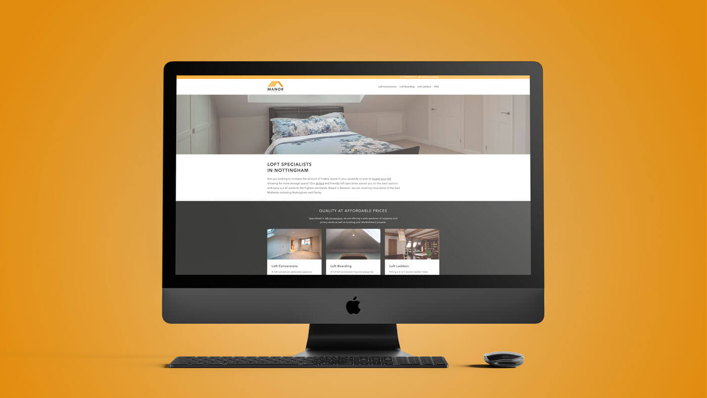 Website der Manor Carpentry Ltd.