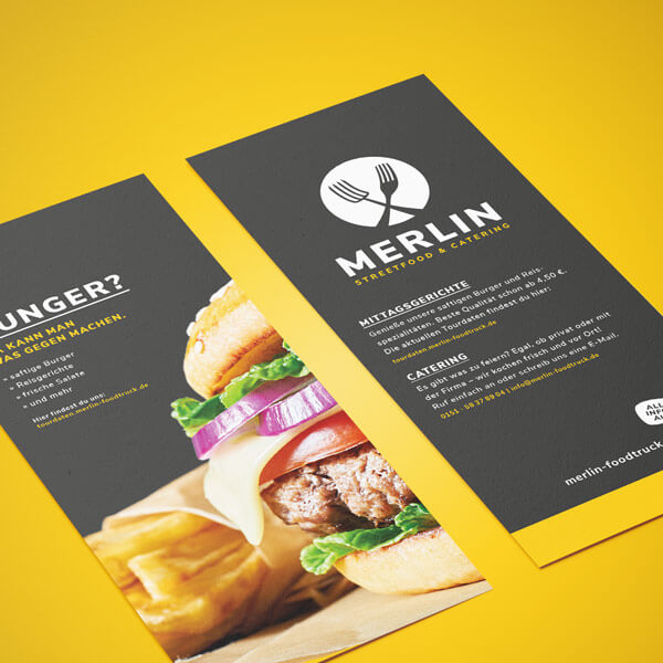 Flyer: Merlin – Streetfood & Catering